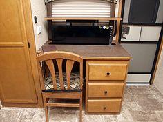 desk for rvs Caravans For Sale, Desks For Small Spaces, Vanity, Kitchen Appliances, Pop, Furniture, Home Decor, Dressing Tables, Diy Kitchen Appliances