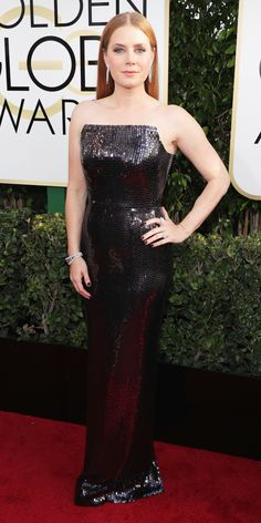 11 Not-So-Basic Black and White Dresses at the 2017 Golden Globes - Amy Adams from InStyle.com