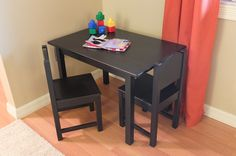 Give your kids furniture just for them! The IKEA SUNDVIK table and chairs are a great fit for reading, crafts and play.