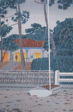 Gouache, Les Oeuvres, Illustration Art, Illustrations, Home Art, Fair Grounds, Fun, Travel, Weather