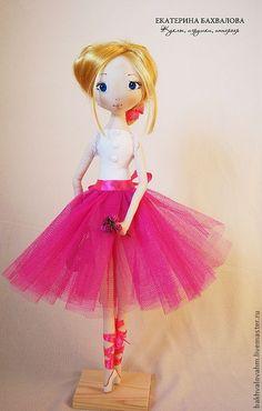 Балеринатекстильная коллекционная авторская кукла