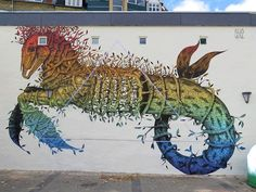 #Animal, #Art, #Artists, #Murals #art - Unusual Hybrid Animal and Wildlife Murals Painted by Alexis Diaz