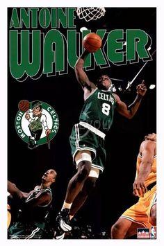 Vintage Antoine Walker Poster NBA Boston Celtics new in plastic rare deadstock Boston Celtics Championships, Antoine Walker, Celtics Gear, Golf Stores, Basketball Legends, Michigan Wolverines, Friends Tv Show, Tampa Bay, Nba