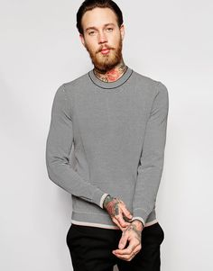 Image 1 of PS Paul Smith Jumper in Stripe with Crew Neck