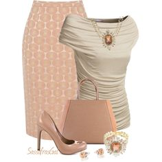 Daisy Jacquard Skirt, created by sassafrasgal on Polyvore