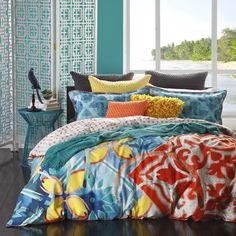 Piper Jade Quilt Cover Set by Logan & Mason