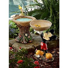 I love this tinker bell bird bath, but it would have to be in the perfect garden!