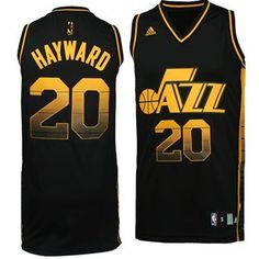Utah Jazz Gordon Hayward Vibe Jersey (Black)
