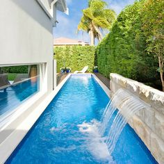 If you are working with the best backyard pool landscaping ideas there are lot of choices. You need to look into your budget for backyard landscaping ideas Small Backyard Design, Small Backyard Pools, Backyard Pool Designs, Outdoor Pool, Small Swimming Pools, Swimming Pools Backyard, Swimming Pool Designs, Pool Landscaping, Lap Pools