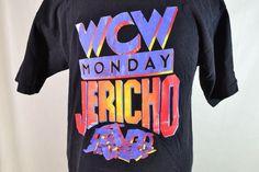 #Vintage #CHRISJERICHO #WCW XL Shirt!! #JERICHOHOLICS!!  Free Shipping #murina for sale in my ebay store