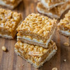 Day 4: This Peanut Chewy Payday Bars recipe from Averie Cooks is just ...