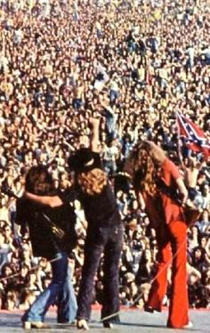 Lynyrd Skynyrd at Knebworth. Music Pics, Music Images, Kinds Of Music, Music Is Life, Great Bands, Cool Bands, Elvis Presley, Gary Rossington, Lynard Skynard