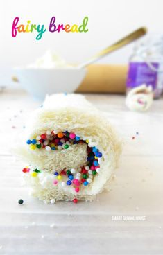 This Fairy Bread Recipe with just 4 ingredients is fun for kids to make and eat. It doubles as a great back-to-school snack and lunchbox dessert recipe.