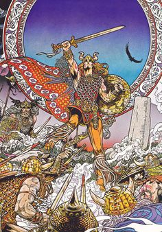 Jim Fitzpatrick's art is the best as far as Celtic mythology is concerned