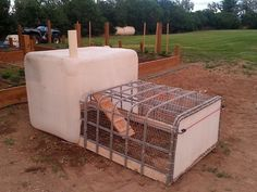 "IBC TOTE: A sturdy IBC Tote is a great candidate for this idea. ""Repurpose"" IBC Totes into a portable chicken coop with a Nesting Box in the upper deck!"
