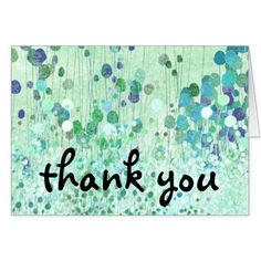 Abstract Wallpaper Fine Vintage Floral Thank You Card