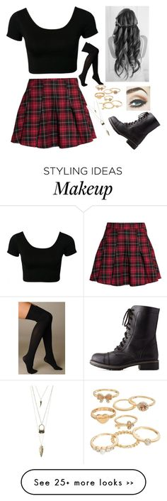 """Back to school"" by bronycutie2 on Polyvore featuring H&M, Hue, Mudd and Charlotte Russe"