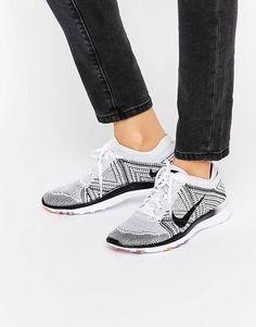 e2e5db28e5ac Nike White   Black Free TR Flyknit Trainers