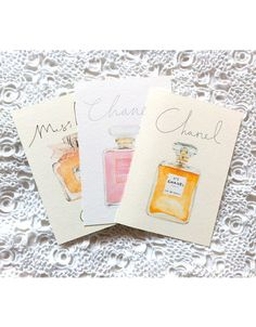 Set of 3 A6 giclée prints Chanel No5 Miss by mbaileyillustrations, $20.00