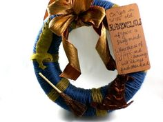 I need to make this one b4 Josie arrives!Ravenclaw House Wreath - HOME SWEET HOME