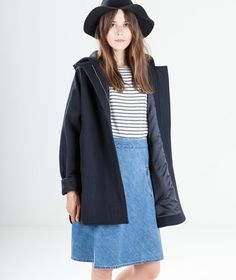SESSUN Nana Jacke navy black | kaufdichgluecklich-shop.de  | blauer Mantel