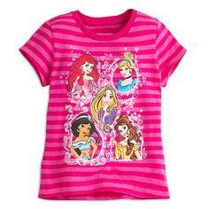 Disney Princess Striped Tee for Girls | Disney Store