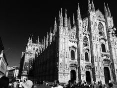 Duomo of Milan, Italy / Clickasnap All Pictures, Monochrome, Milan, Cathedral, Architecture, Building, Travel, Italy, Arquitetura