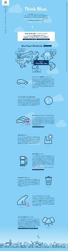 Unique Web Design, Volkswagen Japan http://www.pinterest.com...) more on http://themeforest.net/ #infographics