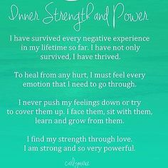Inner strength and power. Happy Saturday! #innerstrengthandpower #strength #power #innerstrength #innerpower #affirmation #healing #healingaffirmation #self #soul #spirit #spiritual #spirituality...
