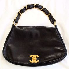 "CHANEL LAMBSKIN LEATHER ""CHAIN-STRAP"" BAG!!!!"