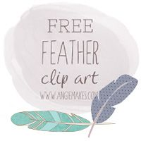 This Free Feather Clip Art Includes Lovely PNG Images. Courtesy of Angie Makes. Feather Clip Art, Free Printable Art, Free Printables, Digital Paper Freebie, Paper Feathers, Craft Packaging, Cute Fonts, Freebies, Borders For Paper