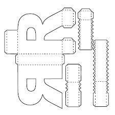 Letras Png ,svg ,pdf ,silhouette no Alphabet Graff, Alphabet 3d, Alphabet Templates, Cardboard Letters, 3d Letters, Diy Gift Box, Diy Box, Paper Toys, Paper Gifts