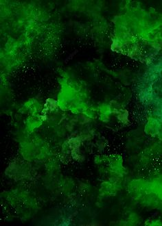 Abstract Green Color Clouds Smoke Background