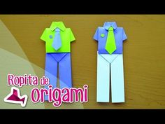 Camisa y corbata origami. Shirt and tie origami. [Día del Padre - Father's Day] - YouTube