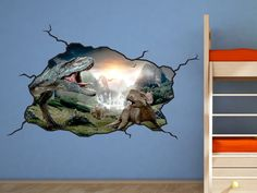Dinosaur Wall Decal  TRex Kids Bedroom by WallJems on Etsy, $43.99