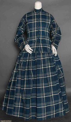 Cotton Maternity Dress, 1860s