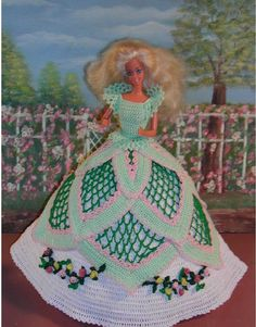 (1) CROCHET FASHION DOLL PATTERN FOR 11 1/2 Fashion Dolls such as Barbie. This is a pattern NOT the finished product.  #86 SOUTHERN LADY…