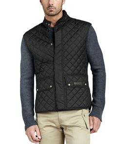 Technical Quilted Vest by Belstaff at Neiman Marcus.