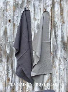Küchenhandtuch Geschirrtuch 100 % Leinen grau+hellgrau Shabby 48x70  Cottage Union Jack, Bathroom Hooks, Towel, Shabby, Potholders, Linen Fabric, Textiles, Grey