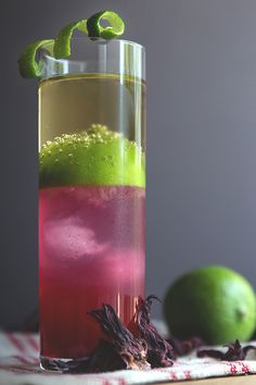 Hibiscus Rum Buck with Lime Juice & Ginger Beer