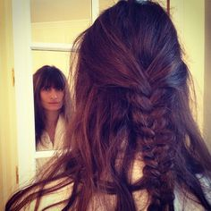 Caroline de Maigret Girls In Love, Braids, Hair Beauty, Lovers, Hairstyles, Long Hair Styles, Fashion, Bang Braids, Haircuts