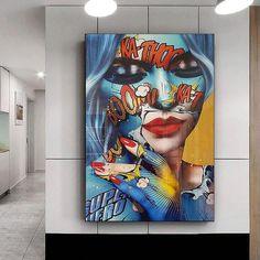 Tableau Pop Art Graf Women Living Room Pictures, Wall Art Pictures, Art Graf, Tableau Pop Art, Images D'art, Art Carte, Poster Art, Oil Painting On Canvas, Wall Art Prints