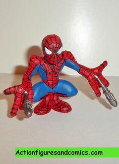 Marvel Super Hero Squad SPIDER-MAN Bright Comic Red Blue Colors w// Web Shield
