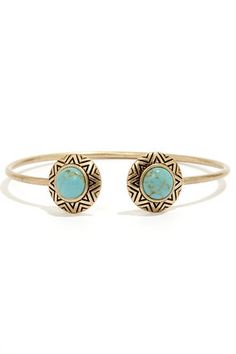 LuLu's Ancient History Gold and Turquoise Bracelet