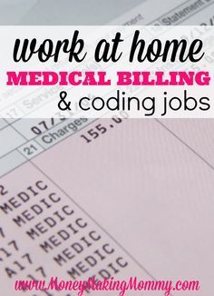 Medical Billing and Coding Work at Home Jobs