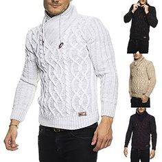 Subliminal Mode Pull Over Col Châle Homme Tricot SB-16082 Petite Maille Montant
