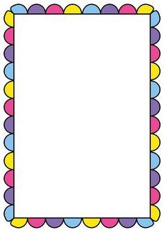borders and frames clip art | Rainbow Hearts Border Frame - Free ...