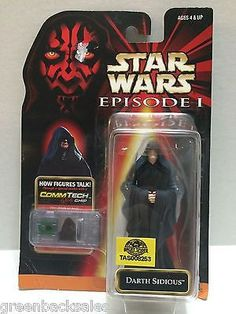 (TAS008253) - Hasbro Star Wars Episode 1 CommTech Chip Figure - Darth Sidious
