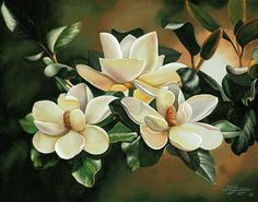 fun ideas to celebrate spring with flower decor 54 Oil Painting Flowers, Large Painting, Watercolor Flowers, Watercolor Paintings, Art Floral, Magnolia Paint, Magnolia Flower, Flower Oil, Still Life Art