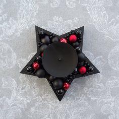 Black Christmas, Christmas Home, Xmas, Skull Candle, Black Is Beautiful, Sugar Skull, Future House, I Shop, Candle Holders